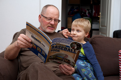 Ivan's going to double check some of the facts that he's getting from Grandpa's rendition of this book