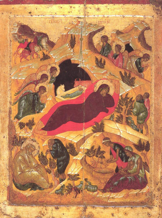 Nativity of Jesus, School of Andrei Rublev, 1410-1430