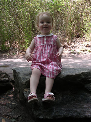 My girl, happy at the zoo
